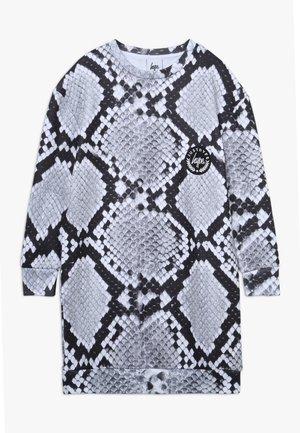 KIDS DRESS MONO SNAKE - Korte jurk - grey