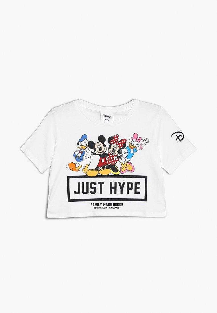Hype - SQUAD CROP - Print T-shirt - white