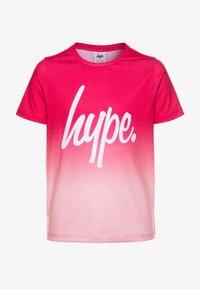 Hype - GIRLS - T-shirts print - burgundy fade - 0