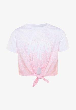 GIRLS  - T-shirt med print - pink fade