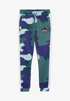 KIDS TRACK PANT CAMO - Träningsbyxor - forest/navy