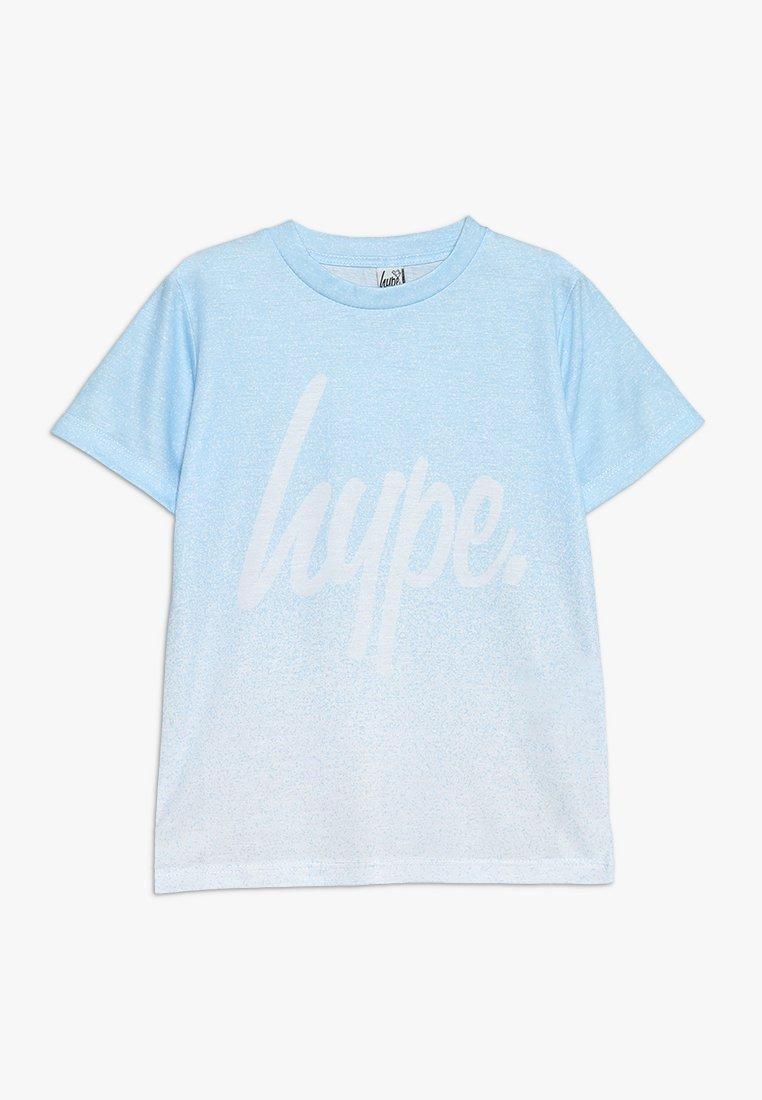 Hype - KIDS SPECKLE FADE SCRIPT - T-shirt imprimé - light blue/white