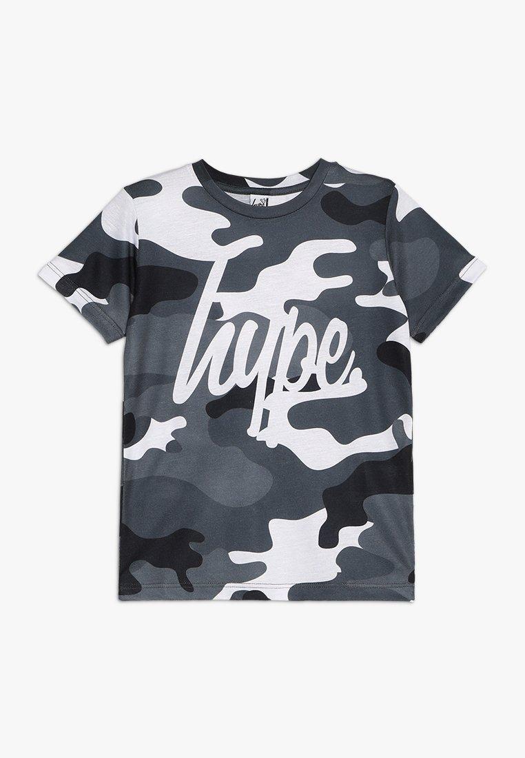 Hype - KIDS CAMO SCRIPT - Print T-shirt - grey/white