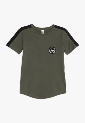 KIDS SIDE STRIPE CREST - Camiseta estampada - khaki/black