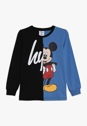 MICKEY SCRIPT SPLICE - T-Shirt print - black/blue