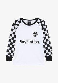 Hype - KIDS CHECKERBOARD - Camiseta de manga larga - white/black - 3