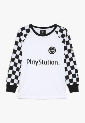 KIDS CHECKERBOARD - Pitkähihainen paita - white/black