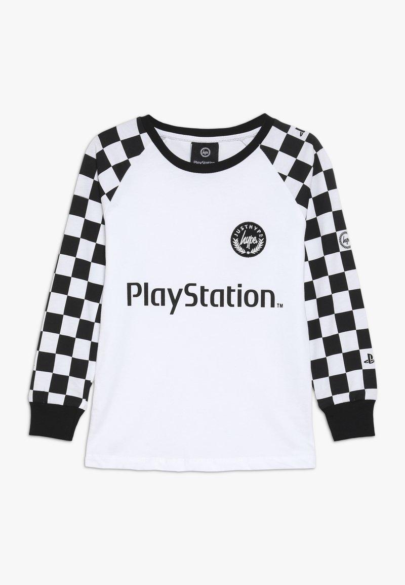 Hype - KIDS CHECKERBOARD - Camiseta de manga larga - white/black