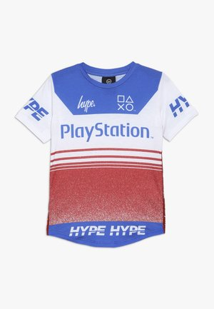 KIDS  RACER - T-shirt con stampa - red/white/blue