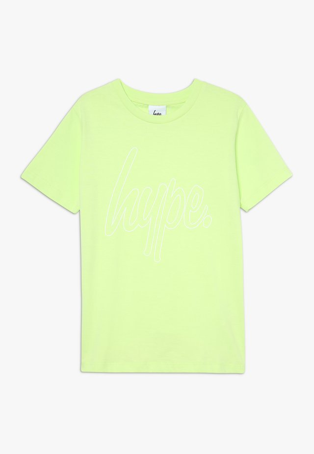 SCRIPT TEE - Camiseta estampada - yellow