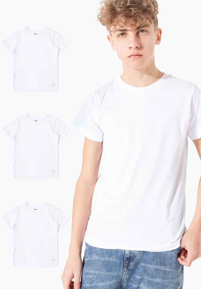 3PACK - Basic T-shirt - white