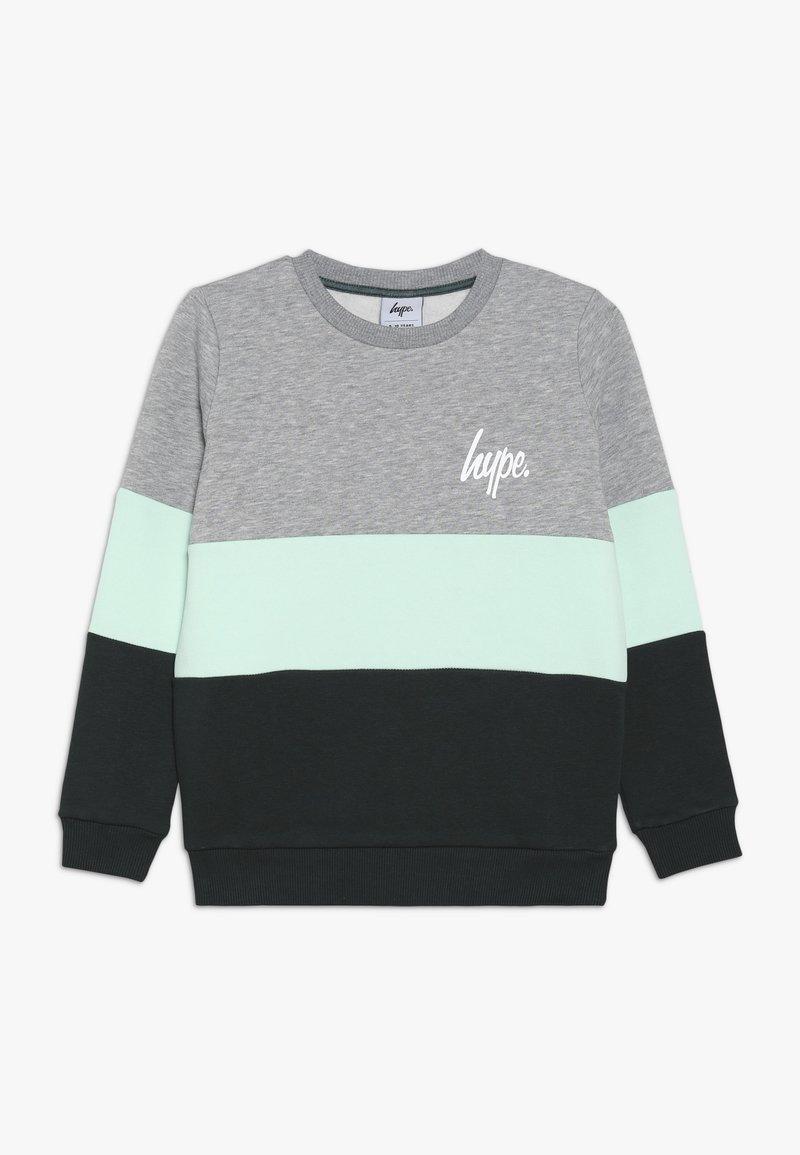 Hype - KIDS CREW NECK TRI PANEL - Sweatshirt - grey/green
