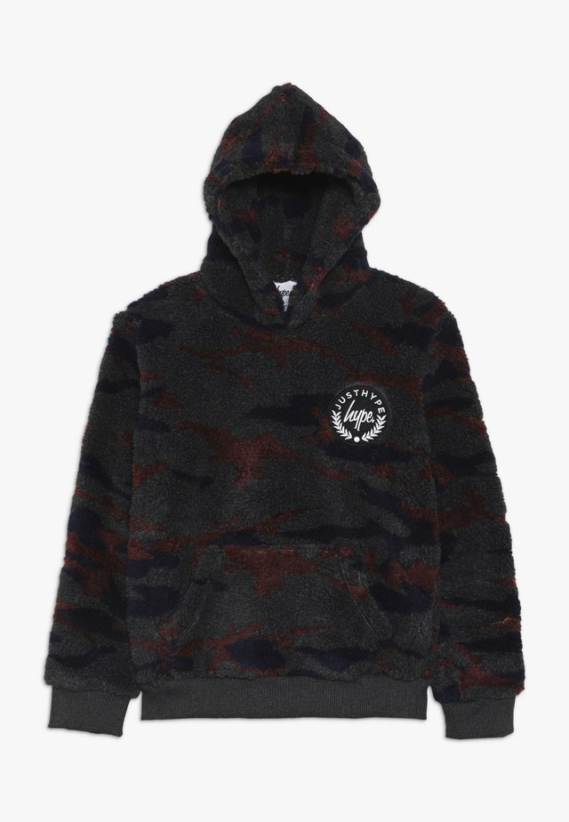 KIDS OVERHEAD HOODIE CAMO SHERPA - Fleece jumper - multi