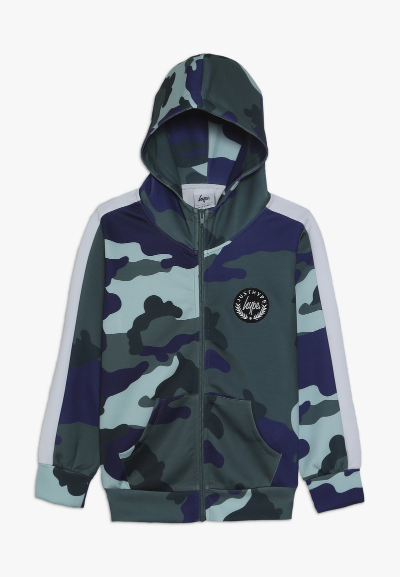 Hype - KIDS TRACK HOODIE CAMO - Training jacket - forest/navy