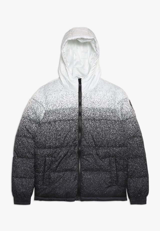 KIDS PUFFER JACKET SPECKLE FADE - Vinterjacka - white/black
