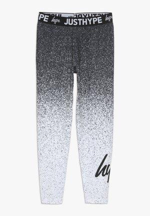 KIDS SPECKLE FADE - Leggings - Trousers - black/white