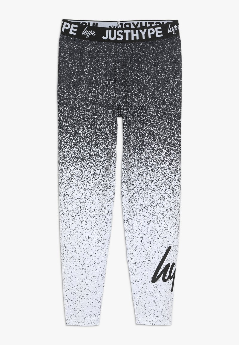 Hype - KIDS SPECKLE FADE - Leggings - Trousers - black/white