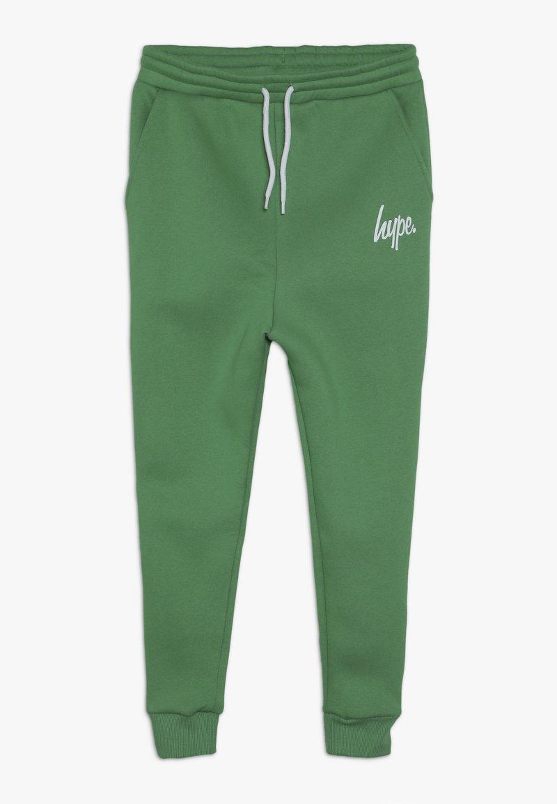 Hype - KIDS JOGGERS SCRIPT - Tracksuit bottoms - green