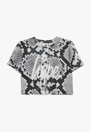 KIDS CROP TEE MONO SNAKE - T-shirt imprimé - grey