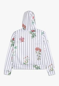 Hype - KIDS CROP HOODIE FLORAL BASEBALL - Jersey con capucha - white - 1