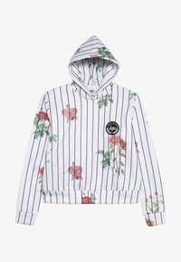 Hype - KIDS CROP HOODIE FLORAL BASEBALL - Jersey con capucha - white - 2