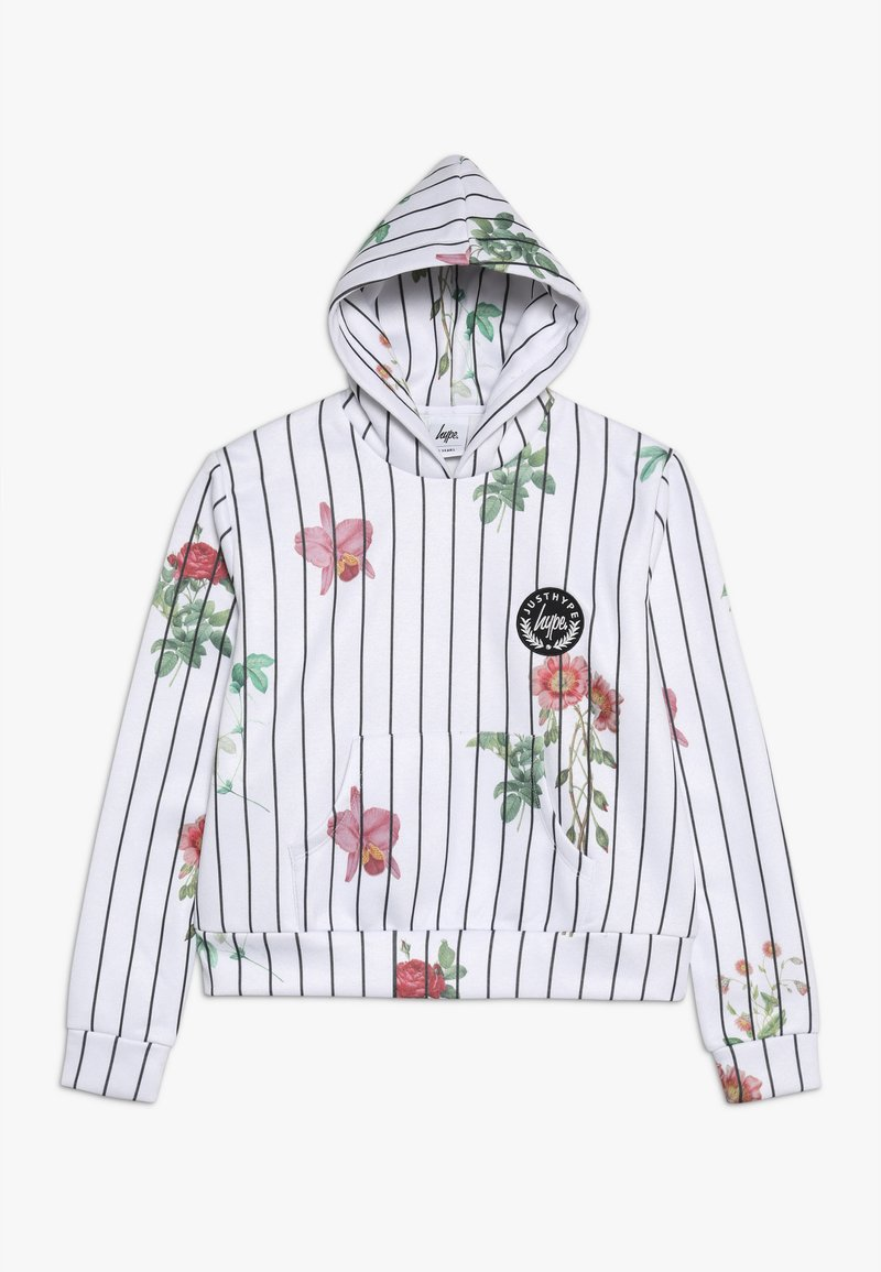 Hype - KIDS CROP HOODIE FLORAL BASEBALL - Jersey con capucha - white
