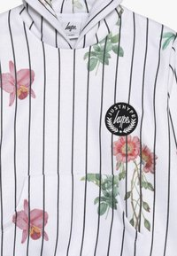 Hype - KIDS CROP HOODIE FLORAL BASEBALL - Jersey con capucha - white - 3