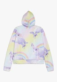 Hype - KIDS CROP HOODIE RAINBOW UNICORN - Jersey con capucha - multi-coloured - 0