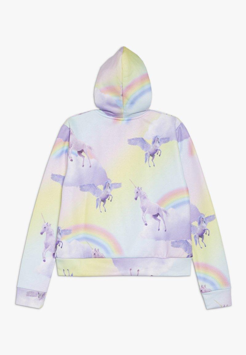 Hype - KIDS CROP HOODIE RAINBOW UNICORN - Jersey con capucha - multi-coloured