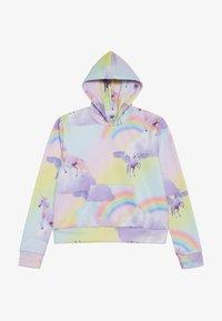 Hype - KIDS CROP HOODIE RAINBOW UNICORN - Jersey con capucha - multi-coloured - 2