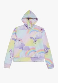 Hype - KIDS CROP HOODIE RAINBOW UNICORN - Jersey con capucha - multi-coloured - 1