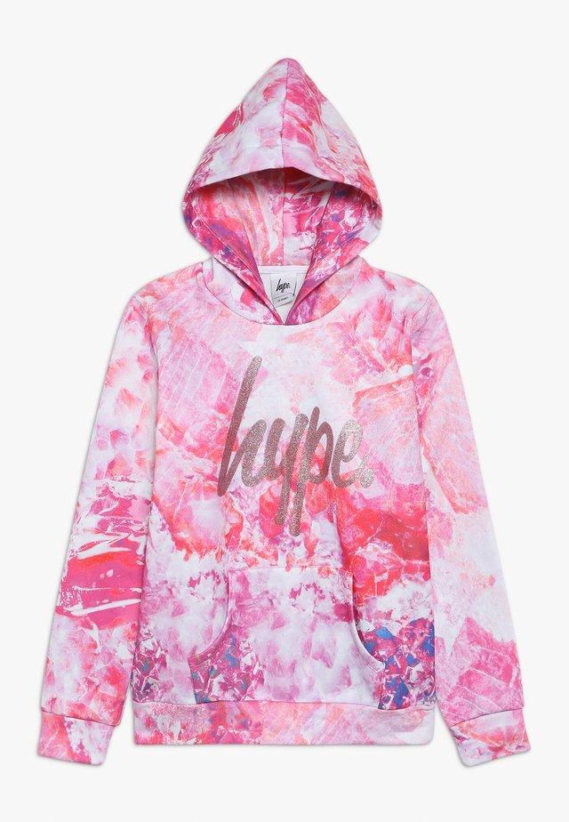 KIDS PULL HOODIE CRYSTAL - Sweater - pink