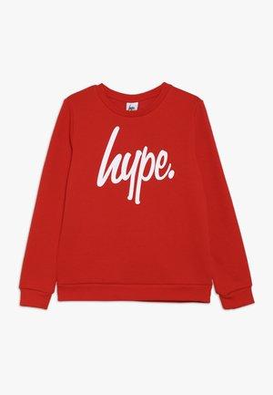 KIDS CREWNECK  SCRIPT - Sweatshirt - red