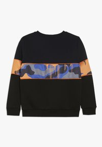 Hype - CREW SCREEN PRINT LOGO PIPING AND SUBLIMATED PANEL - Sweatshirt - black - 1