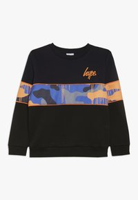 Hype - CREW SCREEN PRINT LOGO PIPING AND SUBLIMATED PANEL - Sweatshirt - black - 0