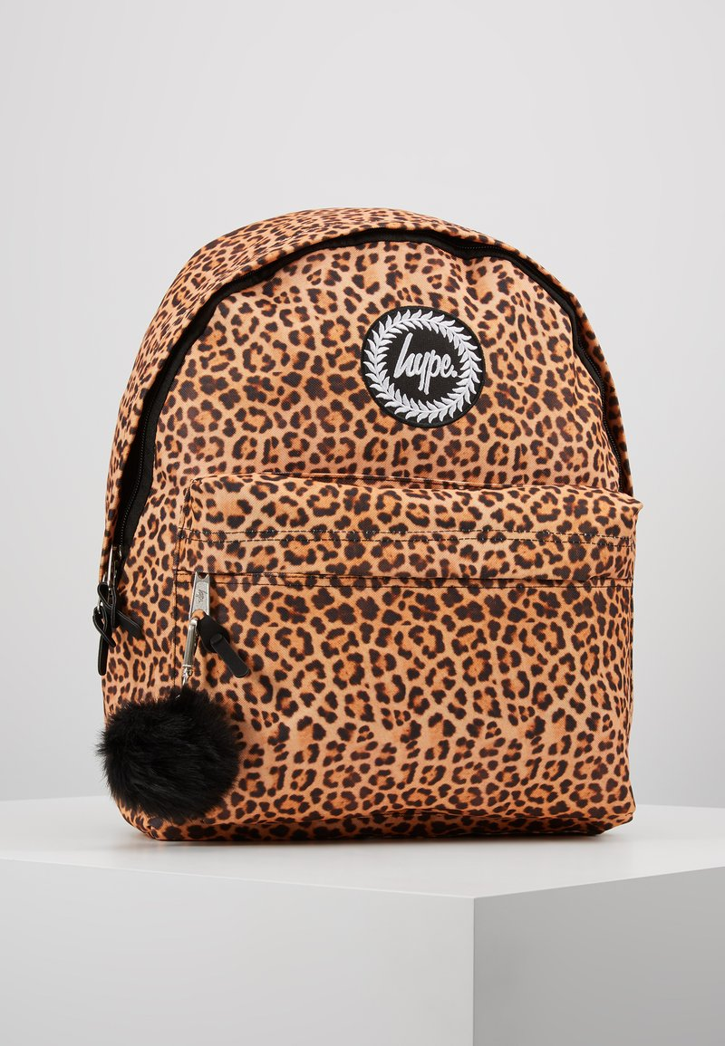 Hype - BACKPACK LEOPARD POM POM - Rugzak - brown