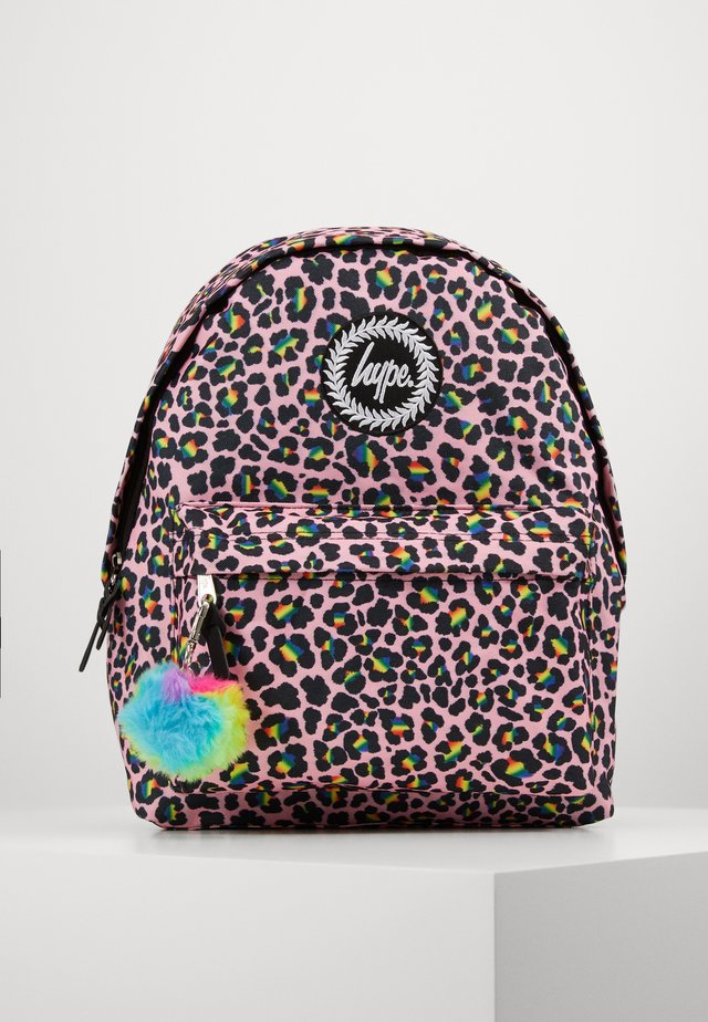 BACKPACK RAINBOW LEOPARD POM POM - Ryggsäck - multi-coloured