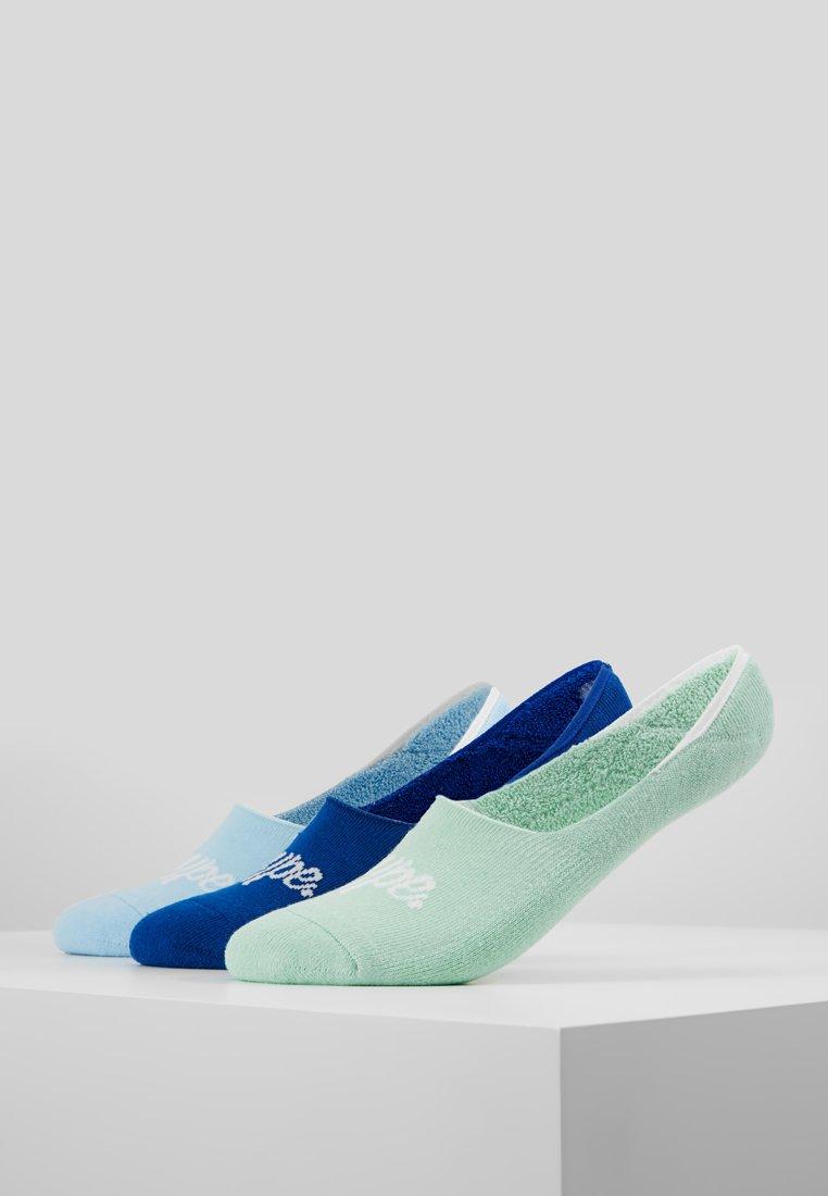 Hype - NO SHOW SOCKS 3 PACK - Sportovní ponožky - bright blue/mint