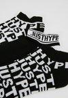 Hype - QUARTER SOCK OVERBRANDED 3 PACK - Socken - black/white
