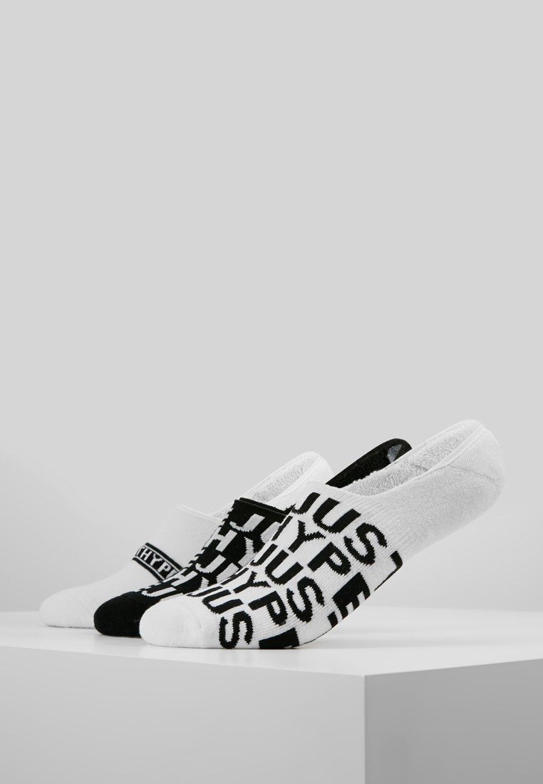Hype - NO SHOW SOCKS OVERBRANDED 3 PACK  - Trainer socks - black/white