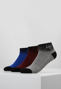 Hype - SPECKLE QUARTER SPORTS 3 PACK - Calcetines - bright blue/grey/burgandy - 0