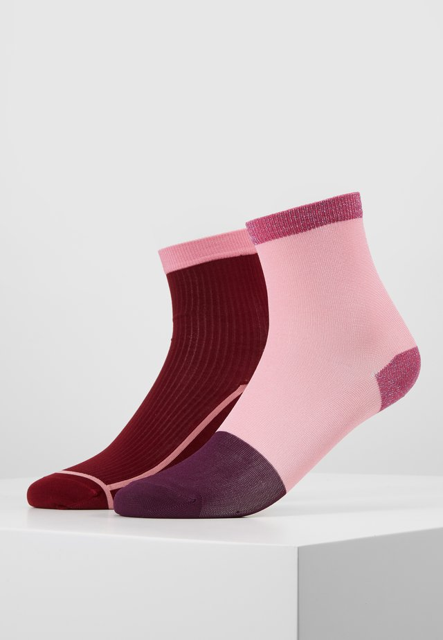 LIZA ANKLE SOCK 2 PACK - Skarpety - dark red