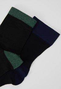Hysteria by Happy Socks - FILIPPA ANKLE SOCK LIZA 2 PACK - Strumpor - black - 2