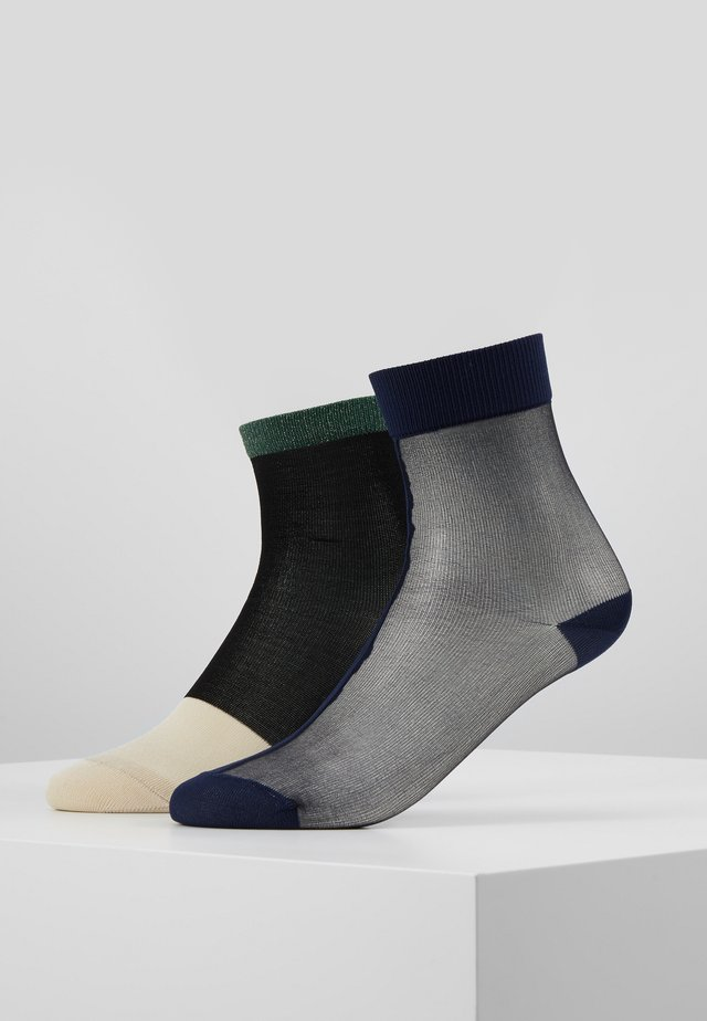 FILIPPA ANKLE SOCK LIZA 2 PACK - Skarpety - black
