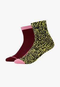 Hysteria by Happy Socks - CHARLIE ANKLE SOCK 2 PACK - Ponožky - pink/yellow - 1