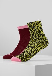 Hysteria by Happy Socks - CHARLIE ANKLE SOCK 2 PACK - Ponožky - pink/yellow - 0