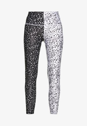 NEW LONG TIGHT TIGHTS - Leggings - Trousers - black/off white seashell