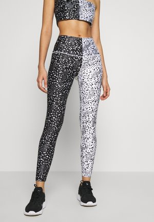 NEW LONG TIGHT TIGHTS - Leggings - Trousers - black/off white seashell