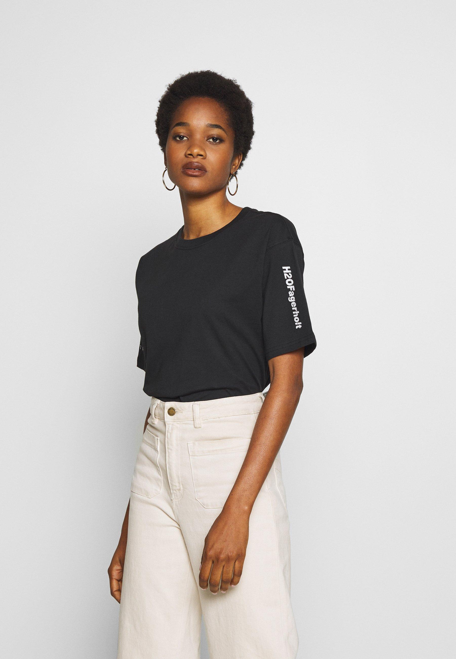 H2O Fagerholt SECRET LOVE TEE - T-shirts med print - black