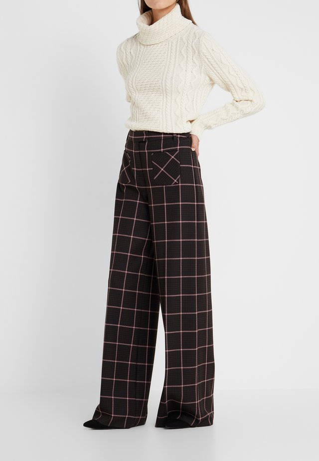 ACCANTO - Trousers - dark brown